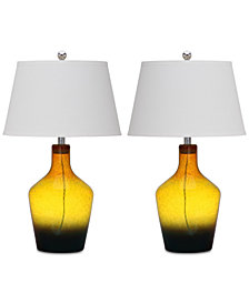 Safavieh Set of 2 Antiquarian Glass Table Lamps