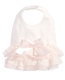 Baby Girls Tulle Bow Bib, Created for Macy's
