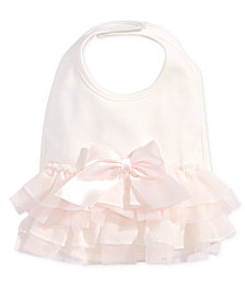 First Impressions Baby Girls Tulle Bow Bib, Created for Macy's