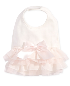 First Impressions Baby Girls Tulle Bow Bib Created for Macys