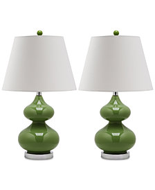 Safavieh Set of 2 Eva Double Gourd Table Lamps