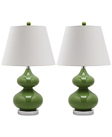 Safavieh Set of 2 Eva Double Gourd Table Lamps