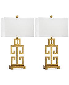 Safavieh Set of 2 Greek Key Gold-Tone Table Lamps