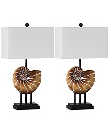 Safavieh Set of 2 Nautilus Table Lamps