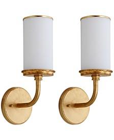 Set of 2 Lorena Gold-Tone Wall Sconces