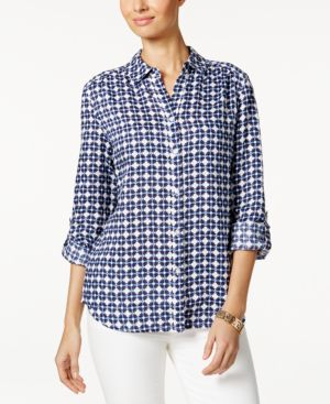 Charter Club Linen Roll-Tab Shirt, Created for Macy's 4487373
