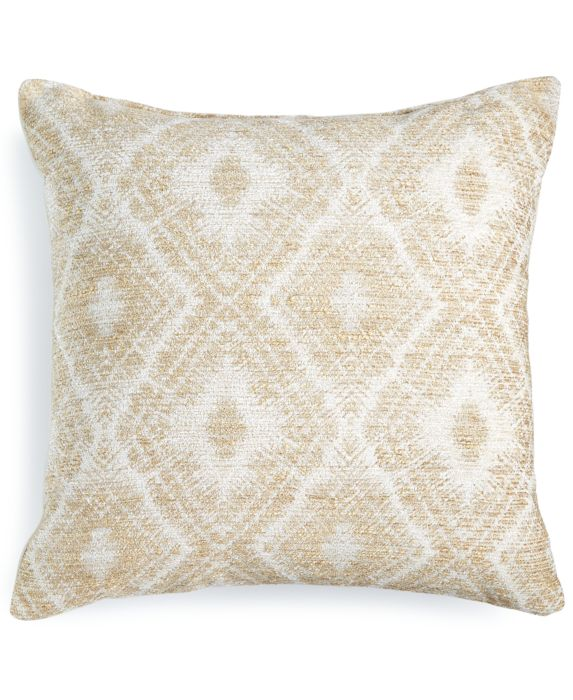 "Hallmart Collectibles Beige Chenille 18"" Square Decorative Pillow, Tan/Beige, Size: 18X18"