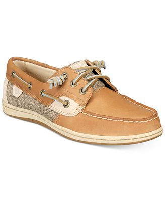 Sperry Top-Sider Women's Songfish Core Boat Shoe,Linen/Oat Leather/Textile,US 6.