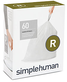 simplehuman Code R 60-Pk. Custom-Fit Trash Can Liners