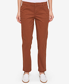 Tommy Hilfiger Cuffed Chino Straight-Leg Pants, Created for Macy's