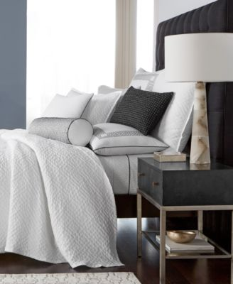 Greek Key Cotton Quilted Twin Coverlet, Created for Macy's