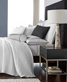 Hotel Collection Greek Key Cotton Quilted Coverlet & Sham Collection, Created for Macy's