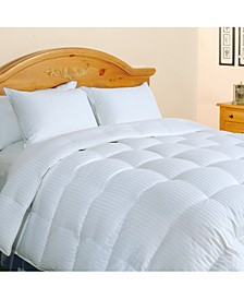 500-Thread Count Damask Stripe King Down Comforter