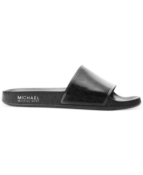 54718602dc99 Michael Kors Nolan Slide Sandals   Reviews - Sandals   Flip Flops ...