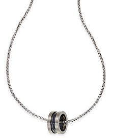 Sutton by Rhona Sutton Men's Two-Tone Stainless Steel Ring Pendant Necklace