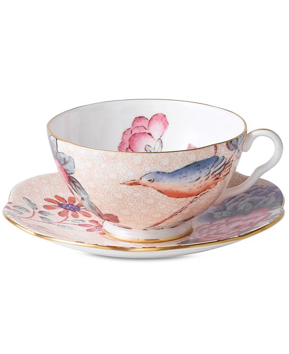 Wedgwood Peach Cuckoo Teacup and Saucer