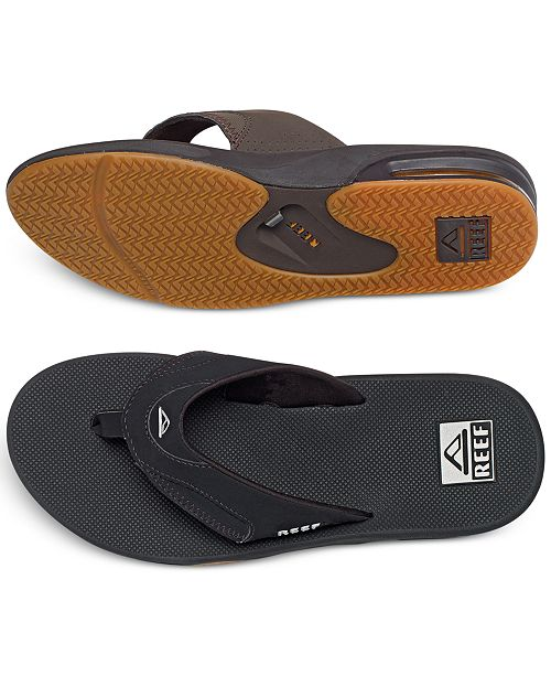 607f628d0e1cd REEF Men's Fanning Thong Sandals with Bottle Opener & Reviews - All ...