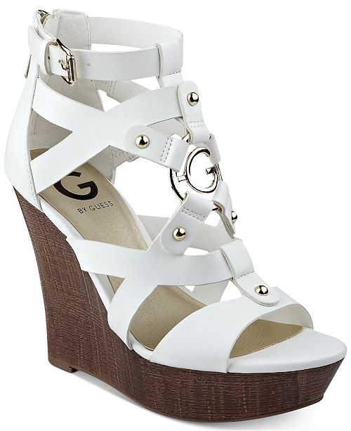 a61d4151c G by GUESS Dodge Platform Wedge Sandals & Reviews - Sandals & Flip ...