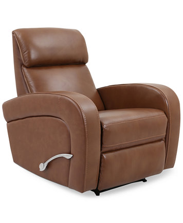 Aryah Leather Swivel Recliner Furniture Macy S
