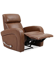CLOSEOUT! Aryah Leather Swivel Recliner