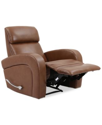 Aryah Leather Swivel Recliner. Furniture  sc 1 st  Macyu0027s : recliner swivel chairs leather - islam-shia.org