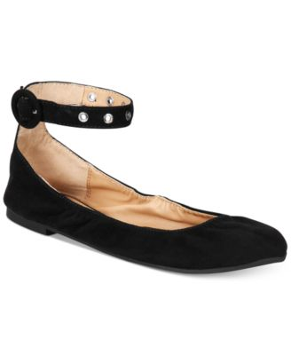 Image of Material Girl Francy Ankle-Strap Flats, Created for Macy's