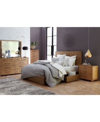 abilene solid pine storage queen platform bed, created for macy's