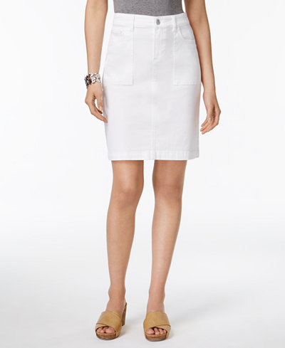 Style & Co Denim Pencil Skirt, Created for Macy's
