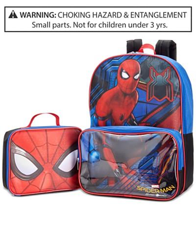 Spider-Man Backpack & Lunch Bag, Little Boys (2-7) & Big Boys (8-20)