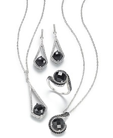 Black Onyx Jewelry Collection in Sterling Silver