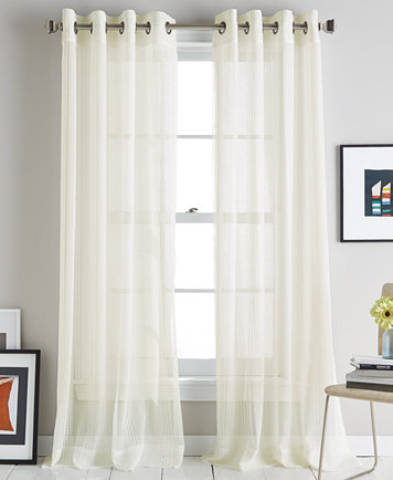 DKNY Soho Stripe Grommet Curtain Panels - Window Treatments - For The Home  - Macy's