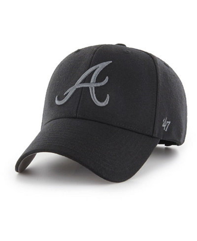 '47 Brand Atlanta Braves MVP Black and Charcoal Cap