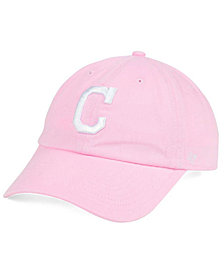 '47 Brand Cleveland Indians Pink/White CLEAN UP Cap