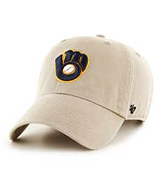 Milwaukee Brewers Khaki CLEAN UP Cap