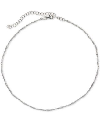 Image of Giani Bernini Polished Bar Chain Choker Necklace in Sterling Silver, Created for Macy's