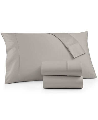 Brookstone Queen 4-pc Sheet Set, 500 Thread Count 100% Cotton Sateen, Created for Macy's