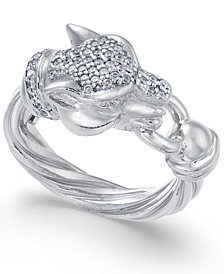 Panther Swarovski Zirconia Statement Ring