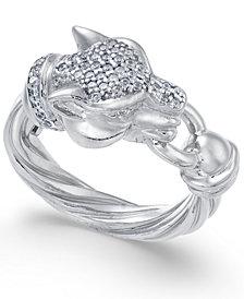 Panther Swarovski Zirconia Statement Ring
