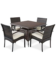 Chiese 5-Pc. Square Dining Set, Quick Ship