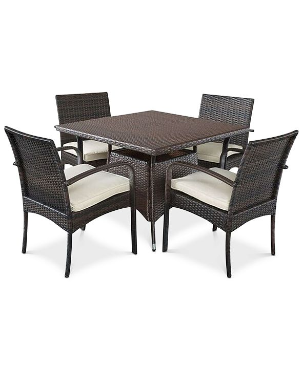 Noble House Chiese 5-Pc. Square Dining Set