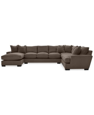 ainsley 3pc sectional with chaise u0026 6 throw pillows created for macyu0027s
