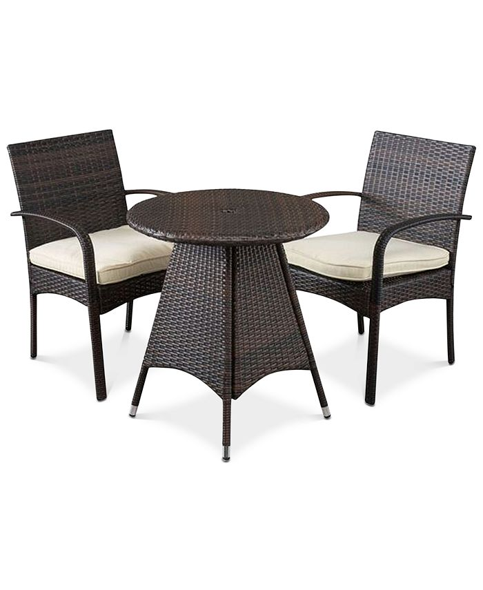 Noble House - Chiese 3-Pc. Bistro with Cushions, Quick Ship
