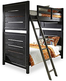 Graphite Kids Twin over Twin Bunk Bed