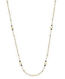 I.N.C. Gold-Tone Long Beaded Statement Necklace, Created for Macy's