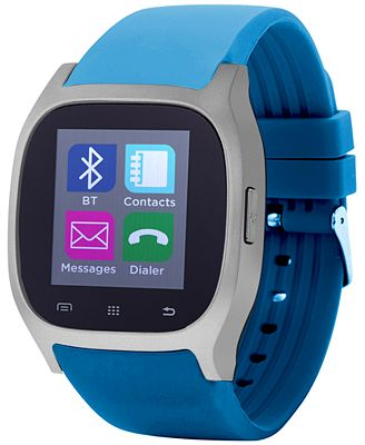 iTouch Unisex Turquoise Rubber Strap Smart Watch 46x45mm ITC3360S590-STQ
