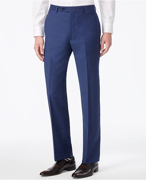 700fb471fe6 ... Calvin Klein X-Fit Solid Slim Fit Pants ...
