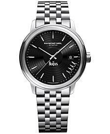 RAYMOND WEIL Men's Swiss Maestro Abbey Road Beatles Stainless Steel Bracelet Watch 40mm 2237-ST-BEAT2 - Limited Edition