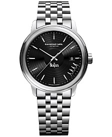 LIMITED EDITION RAYMOND WEIL  Men's Swiss Maestro Abbey Road Beatles Stainless Steel Bracelet Watch 40mm 2237-ST-BEAT2 - Limited Edition