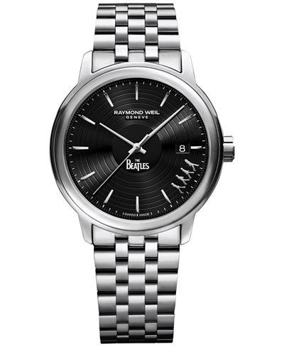 RAYMOND WEIL Men's Swiss Maestro Abbey Road Beatles Stainless Steel Bracelet Watch 40mm 2237-ST