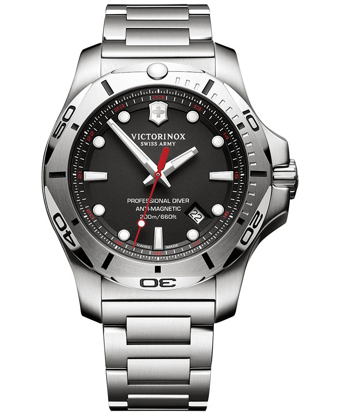 Victorinox Swiss Army - Men's I.N.O.X. Professional Diver Stainless Steel Bracelet Watch 45mm 241781